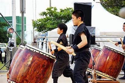 Ishikawa Gifs Festival Animated Taiko Drummers Eisa
