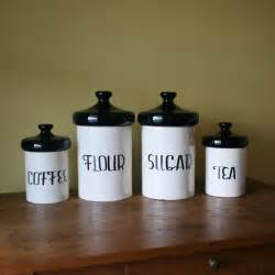 ceramic kitchen canister sets vintage black and white ceramic canister set designs