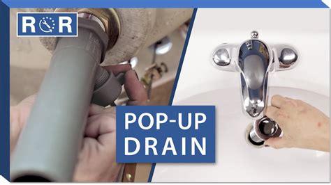 install  pop  drain   bathroom sink repair