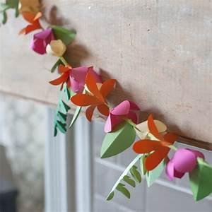 Spring, Paper, Flower, Garland