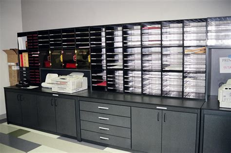 Office Mail by Modular Mailroom Furniture National Office Systems