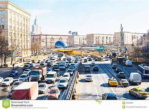 Urban Traffic On Leningradskoye Shosse In Spring Editorial ...