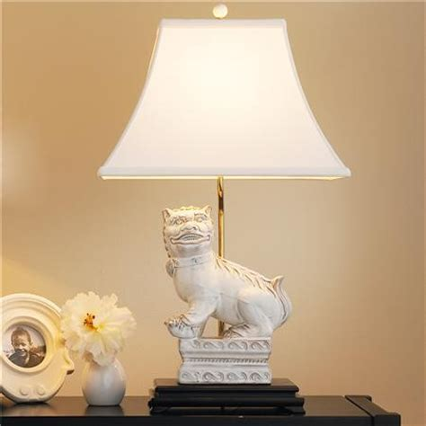 white foo dog table lamp asian table lamps  shades