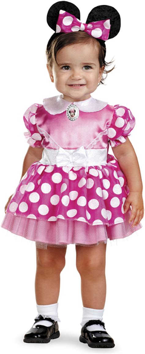 minni mouse kostüm disney minnie mouse pink infant baby fancy dress costume 12 18 months ebay