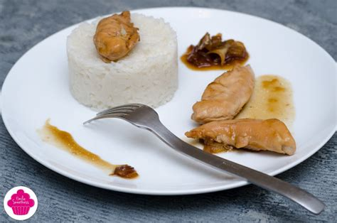 cuisine de basma poulet au caramel et sauce soja accompagné d 39 oignons