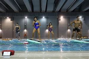 The Daily Strength Hydrofit Aqua Fitness Exercise On A Floating Mat In A