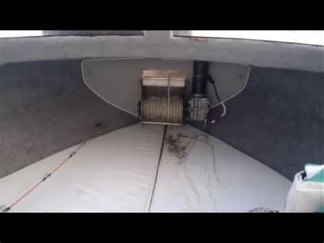 Electric Boat Winch Youtube by Boat Anchor Winch Using On The Sea Tekne 231 Apa ırgatı