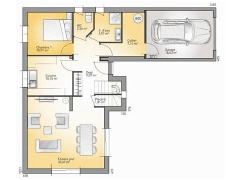 plan maison etage 4 chambres 1 bureau plans de maison rdc du modèle senior maison