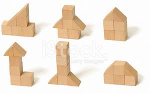 Building Instructions With Toy Blocks Stock Photos