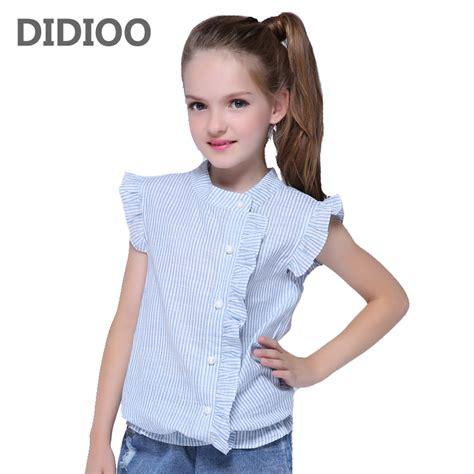 girl shirt brand  cotton girls white blouses high