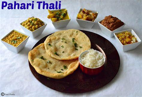 kashmir indian cuisine himachal pradesh thali pahari thali
