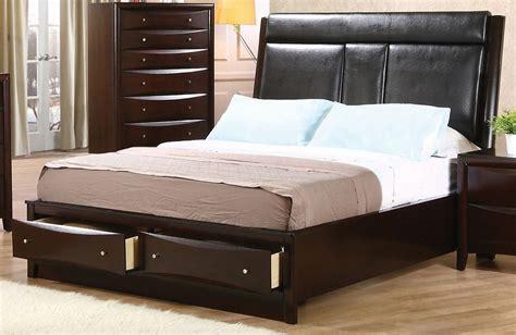 Phoenix Queen Upholstered Storage Platform Bed From