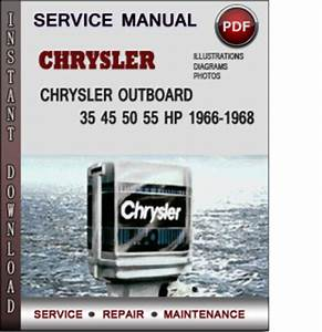 Chrysler Outboard 35 45 50 55 Hp 1966