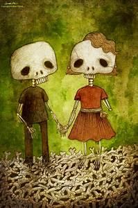 skeleton love by berkozturk on DeviantArt