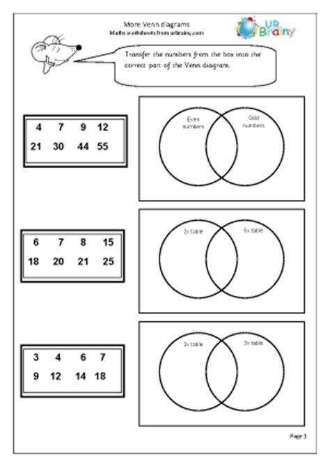 more venn diagrams statistics handling data maths