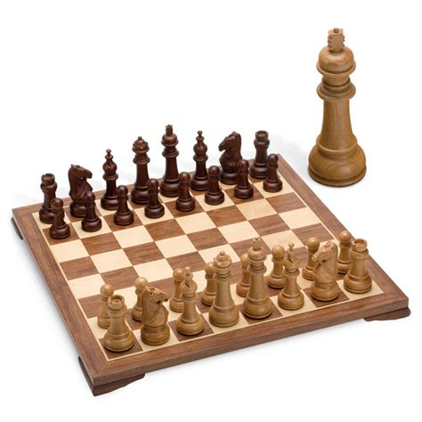 accessoires chambre jeu d 39 echec echiquier bois luxe 50cm juego jeux et