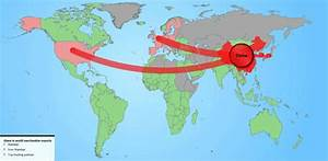 Maps of American and Chinese international trade   US ...