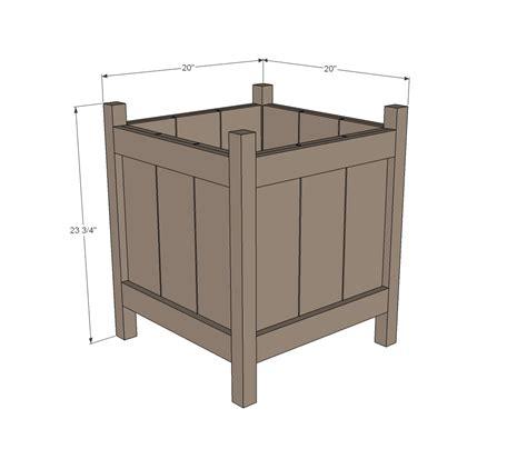 cedar planter woodworking plans woodshop plans