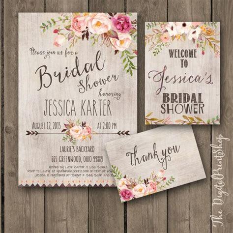 rustic garden bridal shower invitation invite welcome sign