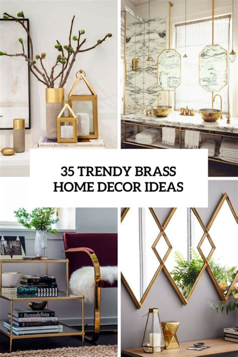 chic  bold brass home decor ideas digsdigs