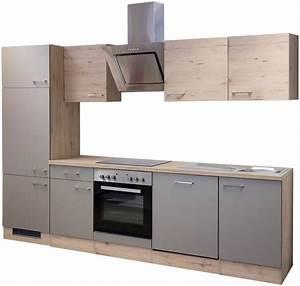 Küchenzeile 280 Cm : k chenzeile mit e ger ten riva 280 cm kaufen otto ~ Frokenaadalensverden.com Haus und Dekorationen