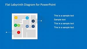 Flat Labyrinth Diagram Template For Powerpoint