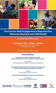 The Case for Male Engagement in Reproductive, Maternal and ...