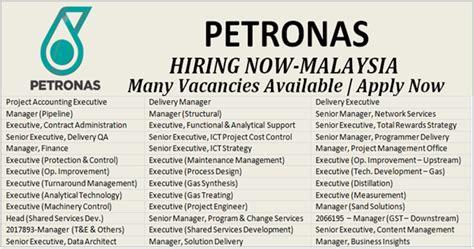 vacancies in petronas malaysia apply now