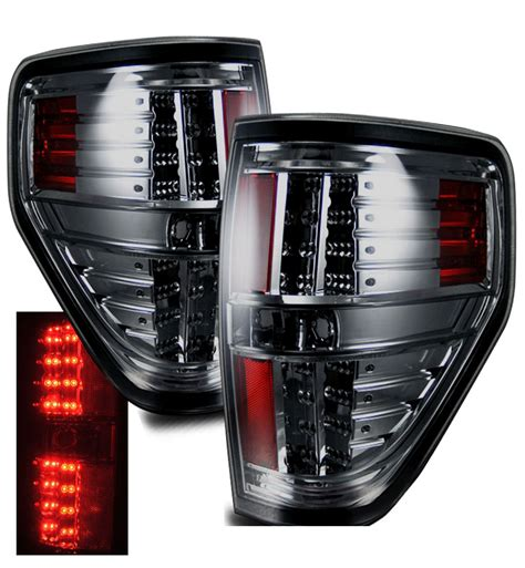 ford f150 brake light bulb 09 13 ford f150 styleside euro style led tail lights smoked