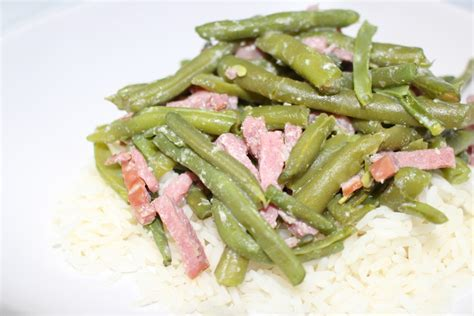 cuisiner les haricots verts recette de haricots verts à la carbonara dine move