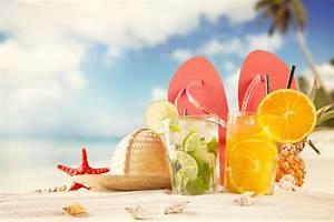 summer beach sand shells starfish hat shale pineapple ...