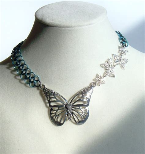 butterfly choker butterfly choker necklace by brainofjen on deviantart