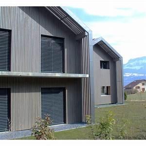habillage extrieur maison de la maison bardage With peinture couleur gris taupe 15 bardage pvc clins imitation bois pour habillage et