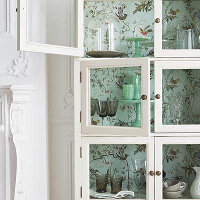 wallpaper inside kitchen cabinets best 25 wallpaper cabinets ideas on open