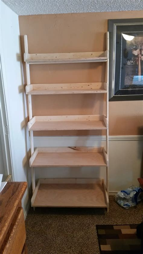 ana white leaning shelf diy projects