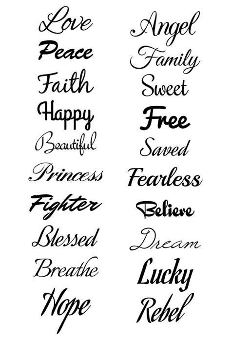 Script Tattoos   Cursive Tattoos   Tatt Me Temporary Tattoos
