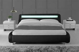 Größe King Size Bed : madrid led lights modern designer bed black faux leather single double king crazy price beds ~ Frokenaadalensverden.com Haus und Dekorationen