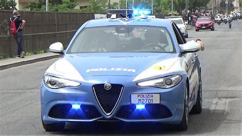 volante polizia polizia stradale in scorta giro d italia 2017 italian