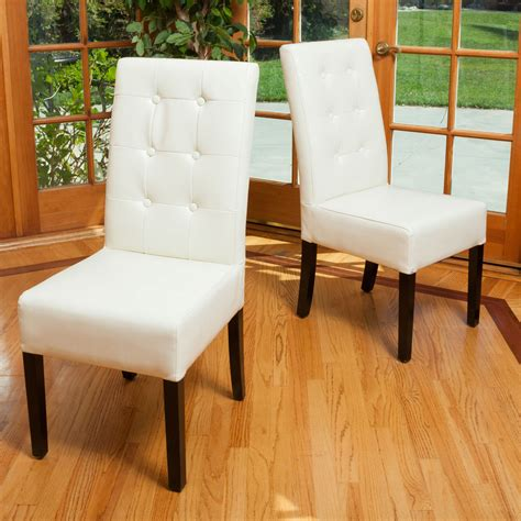 modern white leather dining chair excellent modern white