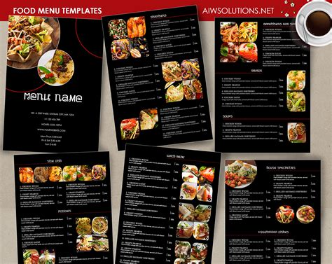 barre cuisine design templates menu templates wedding menu food