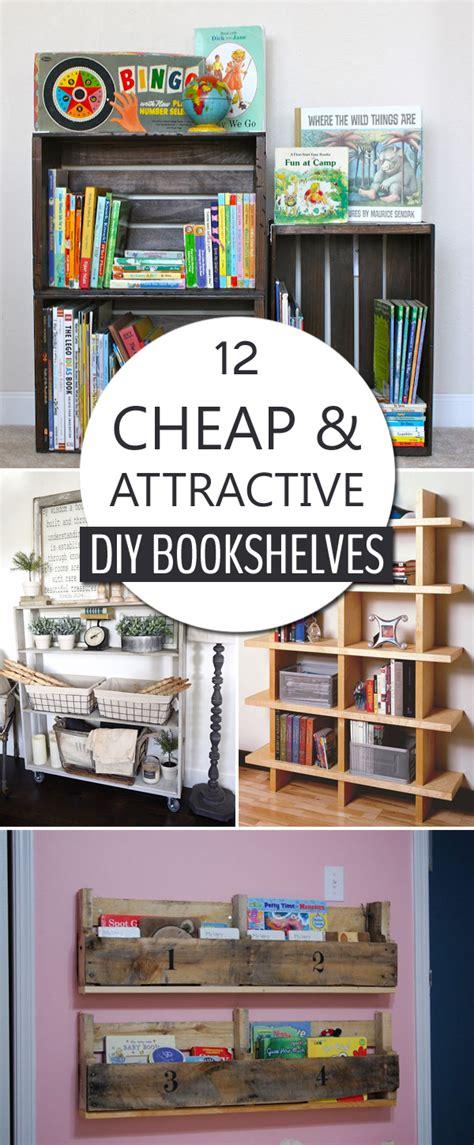 cheap  attractive diy bookshelves   build