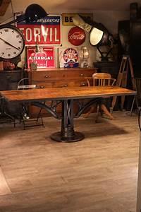 Pied De Meuble Vintage : table industrielle pied fonte meuble industriel vintage ~ Dallasstarsshop.com Idées de Décoration