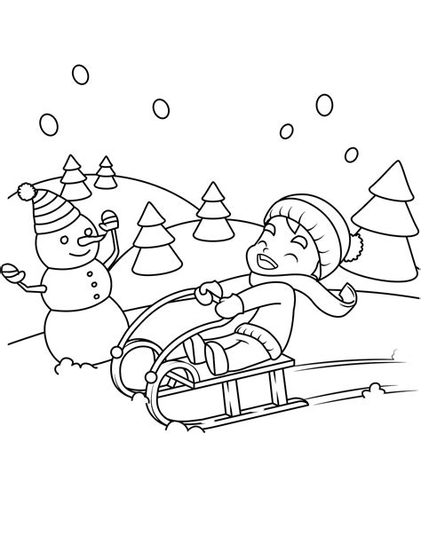 winter coloring free printable winter coloring pages for