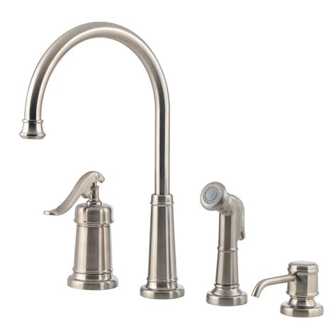kitchen faucets with soap dispenser pfister ashfield single handle standard kitchen faucet