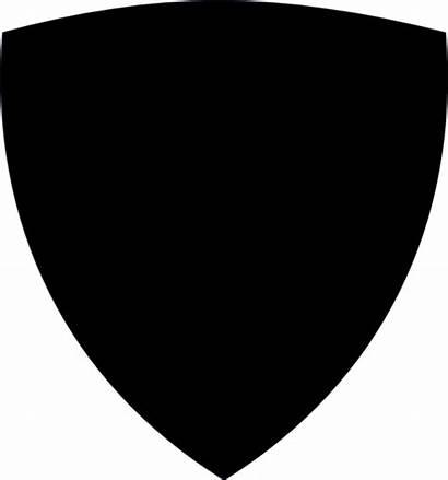 Shield Clip Badge Silhouette Clipart Vector Cliparts