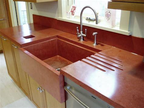 concrete countertop and sink concrete countertops style design guide l countertop