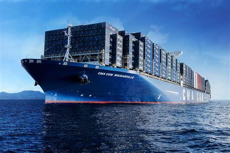le porte conteneurs bougainville le  grand navire de