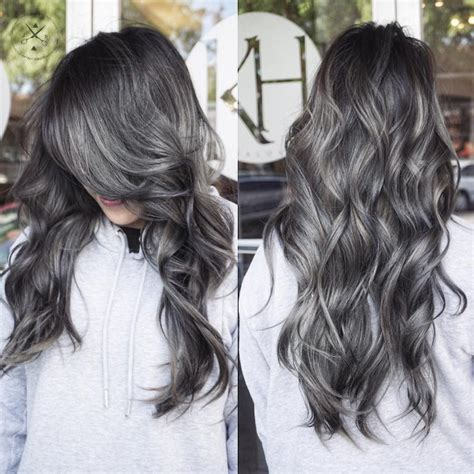 cool black  grey hair color ideas trendy  april