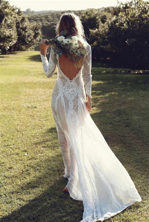 robe longue dos nu mariage 1001 id 233 es pour une vision chic avec la robe de mari 233 e en