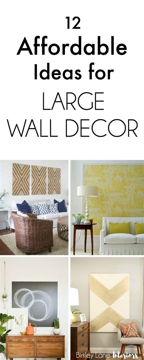 No matter how big or small your living space, your wall decor should reflect your style, and large living room wall art is a great way to show off personality and. 12 Affordable Ideas for Large Wall Decor | Birkley Lane Interiors | Big wall decor, Large wall ...